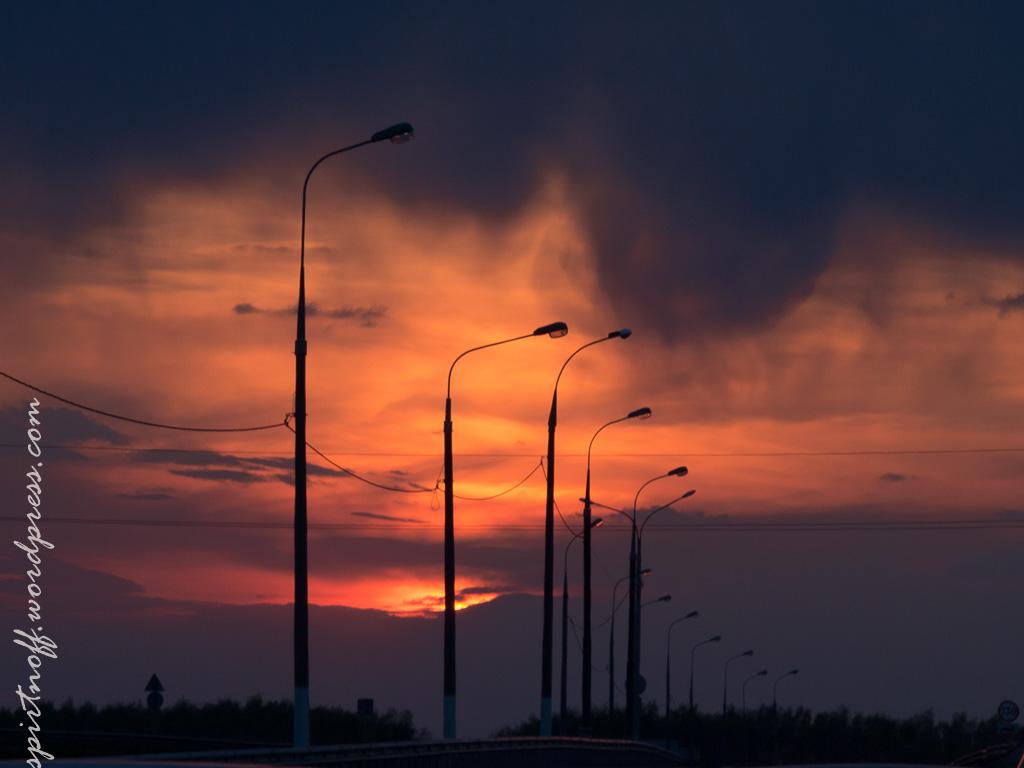 Просто фото  Закат на Трассе